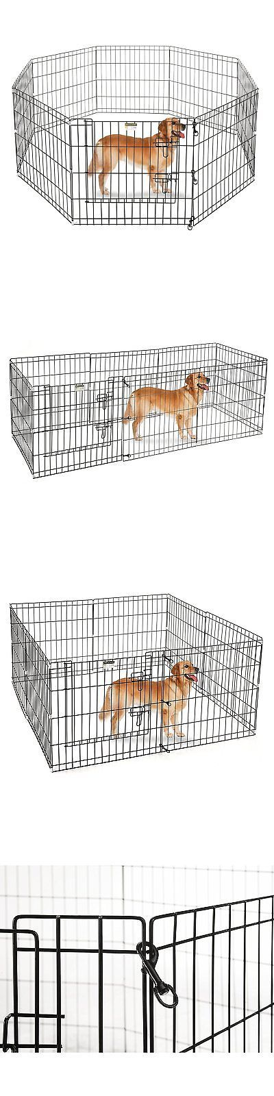 Fences and Exercise Pens 20748: Portable Folding Exercise Pet Playpen Dog Puppy Fences Gate Home Indoor Outdoor -> BUY IT NOW ONLY: $45.8 on eBay!