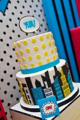 super hero party cake!