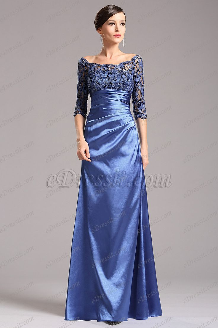 Looking for low price but high quality Blue Mother of the Bride Dress with Long Lace Sleeves (X26121805)? eDressit.com can custom-made for you!