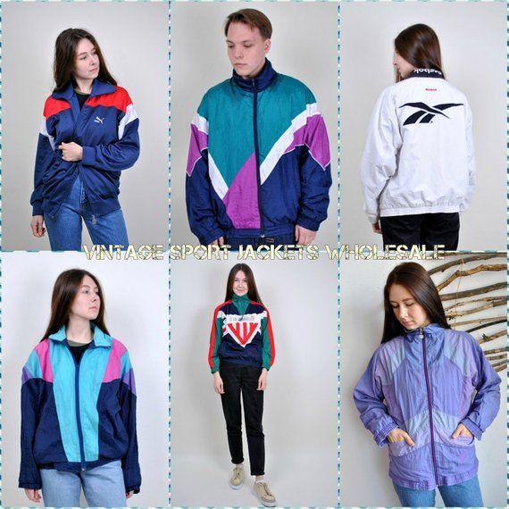 Vintage Windbreakers Wholesale Sport Jackets Bulk Buy Retro Etsy Sport Jacket Men Vintage Windbreaker Sports Jackets Women