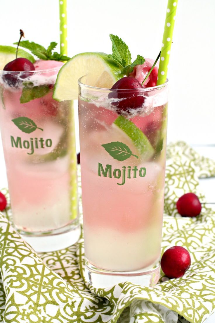 Meet your new go-to cocktail for summertime! Refreshing lime, fresh mint, & sweet cherry come together perfectly in these frosty Cherry Limeade Mojito Floats.