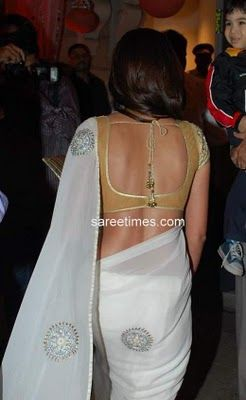 latest saree blouse designs front and back - Google Search