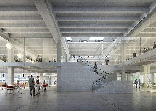Sanierung und Umnutzung Halle Grise BlueFactory Fribourg   Boegli Kramp   Architekten BSA SIA SWB