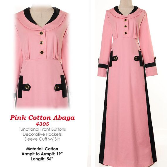 Fashion Islamic Formal Career Shirtdress Abaya Long by MissMode21, $30.00