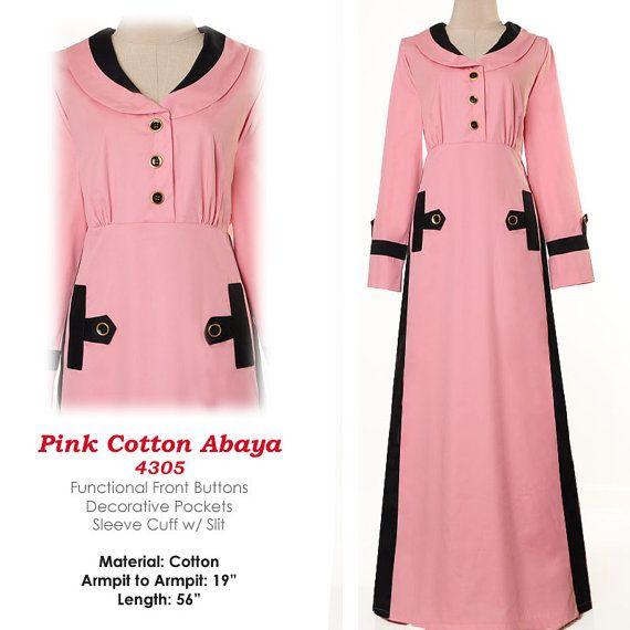 Fashion Islamic Formal Career Shirtdress Abaya Long by MissMode21, $30.00