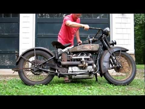 1928 Henderson Deluxe Antique Motorcycle Running - YouTube