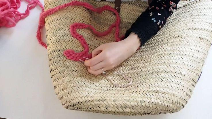 Customiser un panier en osier avec de la laine