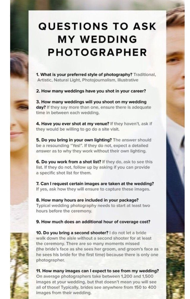 Questions To Ask Your Wedding Photographer Various Musely Tip