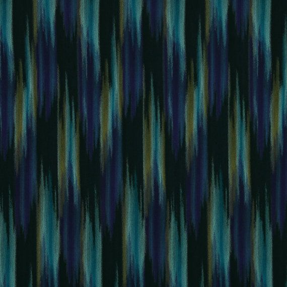 Teal and Navy Blue Fabric - Modern Abstract Upholstery Yardage - Woven Furniture Material - Teal Padded Headboard - Purple Navy Blue