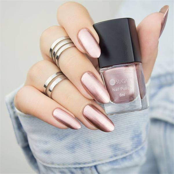 UR SUGAR Colorful Pink Silver Gold Mirror Metallic Nail Polish Metallic Nail Lacquer Mirror Effect Gorgeous Metal Nail Varnish