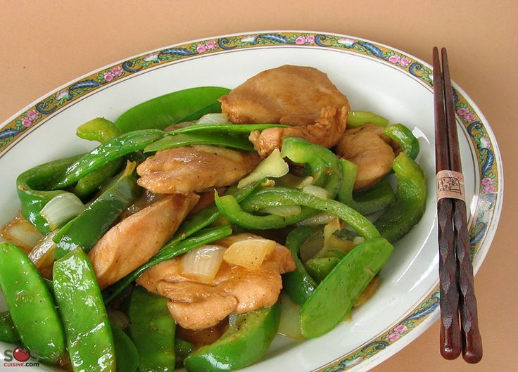SOSCuisine: Chinese-Style Chicken with Snow Peas