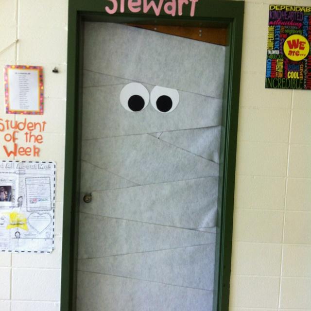 My Halloween classroom door I made today!