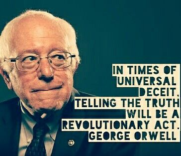 Bernie Sanders George Orwell Philosophy Politics Economics Revolution