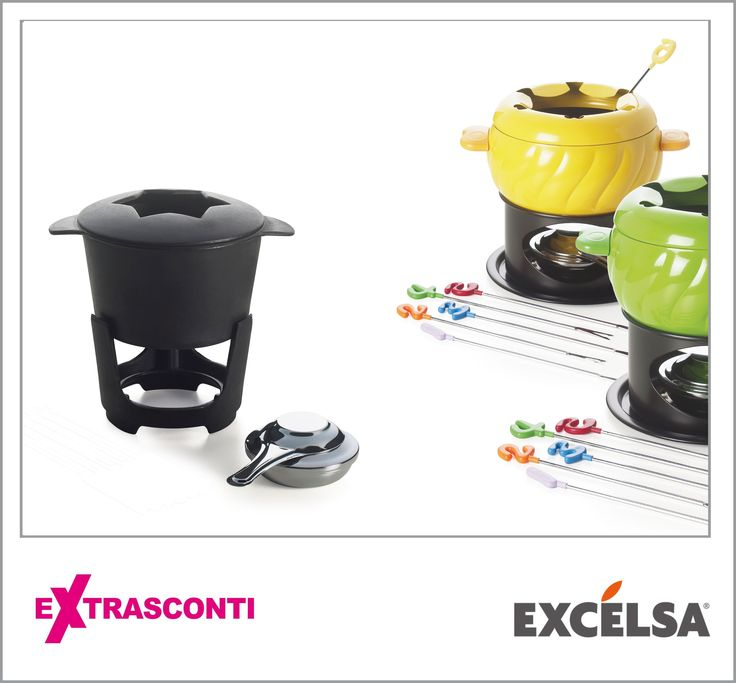 "#Castiron #fondue set (x10) / #Servizio #fonduta in ghisa (x10)- #Excelsa  #Original: 66.19€ #Outlet #price: 46.34€ #EXTRASCONTI: 27.80€ #Fondue #set ""Color"" (x6) / Servizio fonduta #colorato (x6) - Excelsa  Original price: 41.38€ Outlet price: 28.96€ EXTRASCONTI PRICE: 17.39€ #Available at Excelsa - #store #number 16. #Disponibili presso Excélsa - civico 16. http://www.palmanovaoutlet.it/it/outlet/negozi/excelsa"