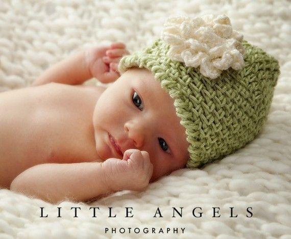 Lime Sherbet Beanie Crochet Hat by SunsetCrochet