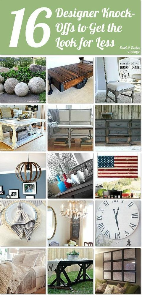 16 designer knock offs to get the look for less idea box by edith evelyn vintage cindy get - Modern furniture knock offs ...