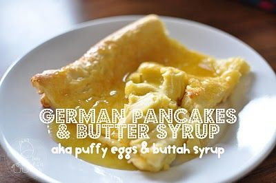 German Pancakes, yum!Birthday Breakfast, Puffy Eggs, German Pancakes, Funky Polkadot, Polkadot Giraffes, Buttah Syrup, Breakfast Recipe, Tutorials Thursday, Coconut Extract