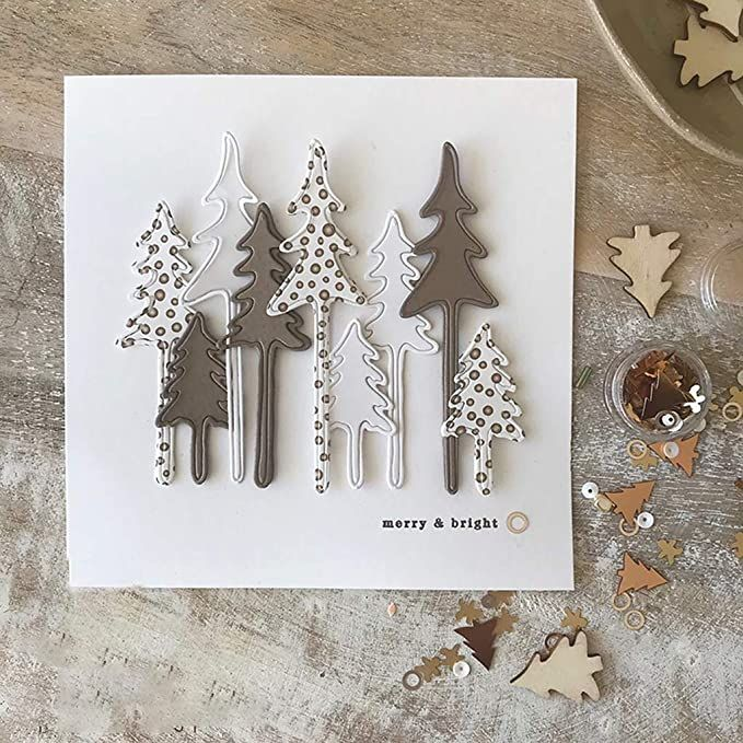 card tree christmas trees, Alexandra Renke trees and frame