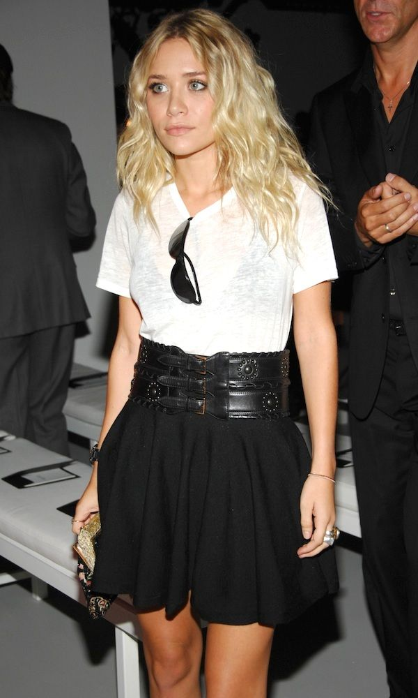 Ashley Olsen Looking Chic In Black And White