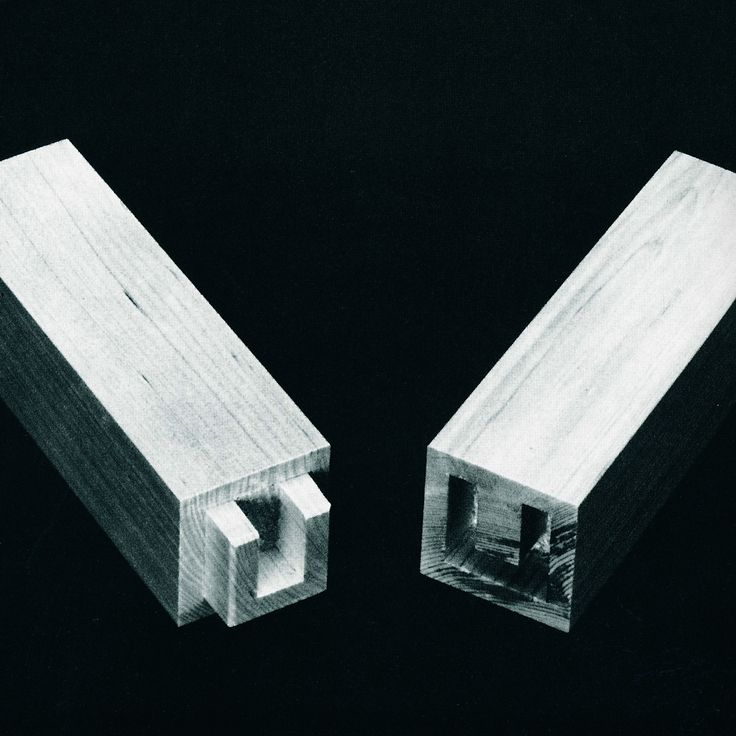 Blind U-shaped stub tenon. From The Art of Japanese Joinery by Kiyosi Seike.