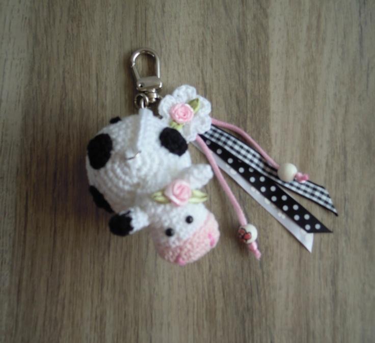 Sleutelhanger koe