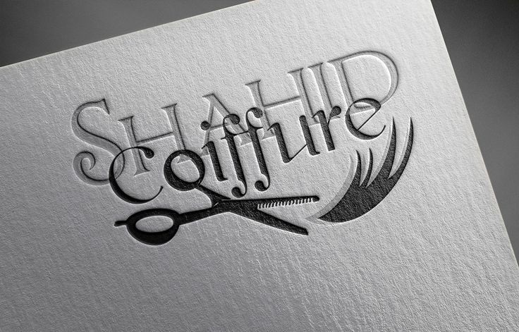 "#Branding #Hairdresser #Logo #Identity  Check out this @Behance project: ""SHAHID COIFFURE"" https://www.behance.net/gallery/41490149/SHAHID-COIFFURE"