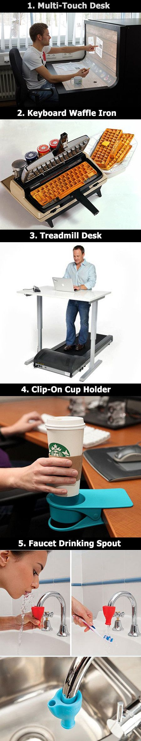 Here are some fun and creative home gadgets that would be freakin AWESOME to have