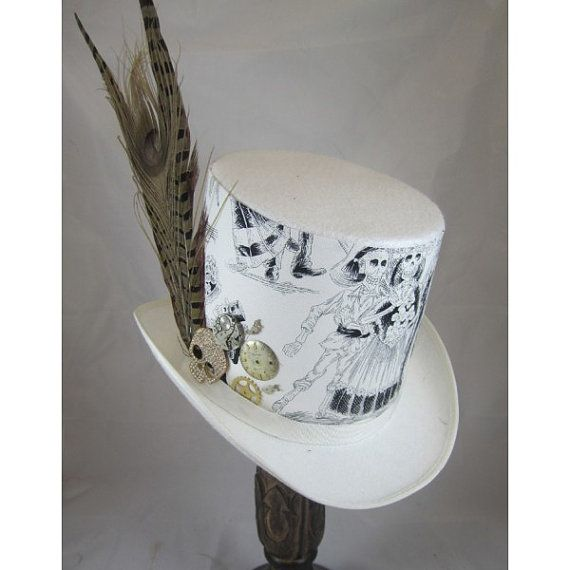 DAY OF THE Dead Steampunk Top Hats Steampunk Store by EmilyWayHats