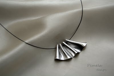 Pendant made of rhodium plated silver by www.pemeladesign.com