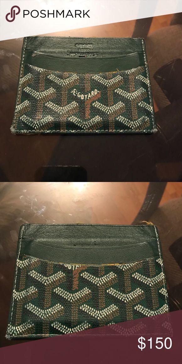 Goyard card wallet Goyard card holder men's coated canvas and leather five card slot. Goyard Bags Wallets