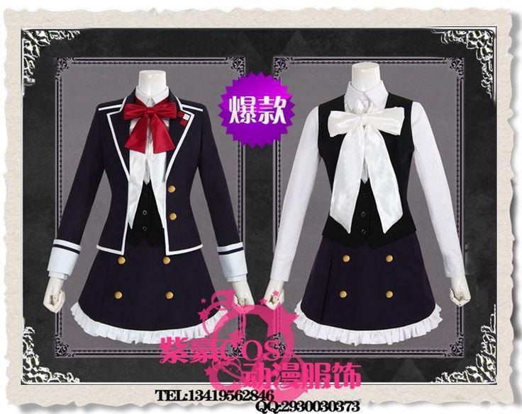>> Click to Buy << Anime Diabolik Lovers Komori Yui Cosplay Black Dress Skirt Japanese School Girl Diabolik Lovers Komori Yui Uniform Suit Costume #Affiliate