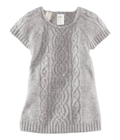 $17.95 Sweater Dress  H US--- I want this yesterday... if we were having a girl.  Throw on some tights.... I could squeal it's so cute!