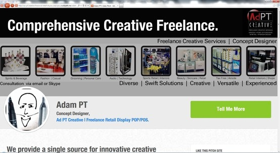 Check Out the New Pitch Site  http://ad-pt-creative-freelance-retail-display-pop-pos.crushpath.me/adam