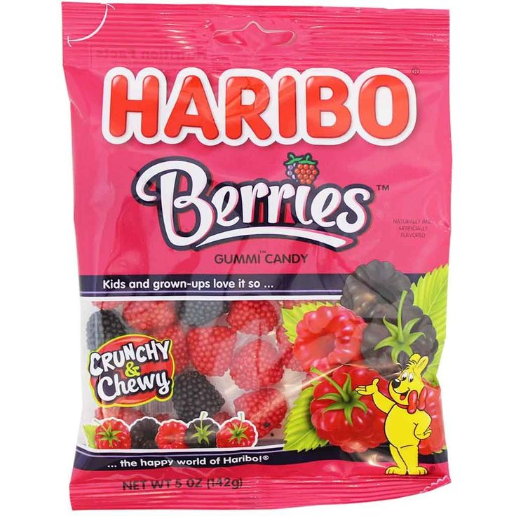Haribo Berries Gummi Candy 5 oz. (142g)