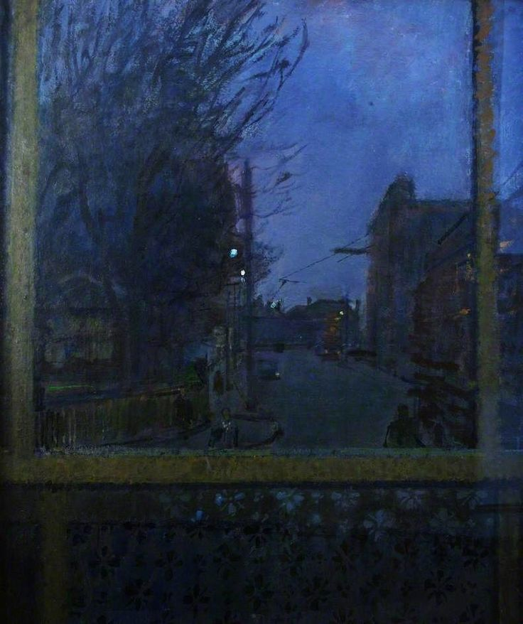 Ruskin Spear (British, 1911-1990), Winter Evening. Oil on board, 76.5 x 61 cm.