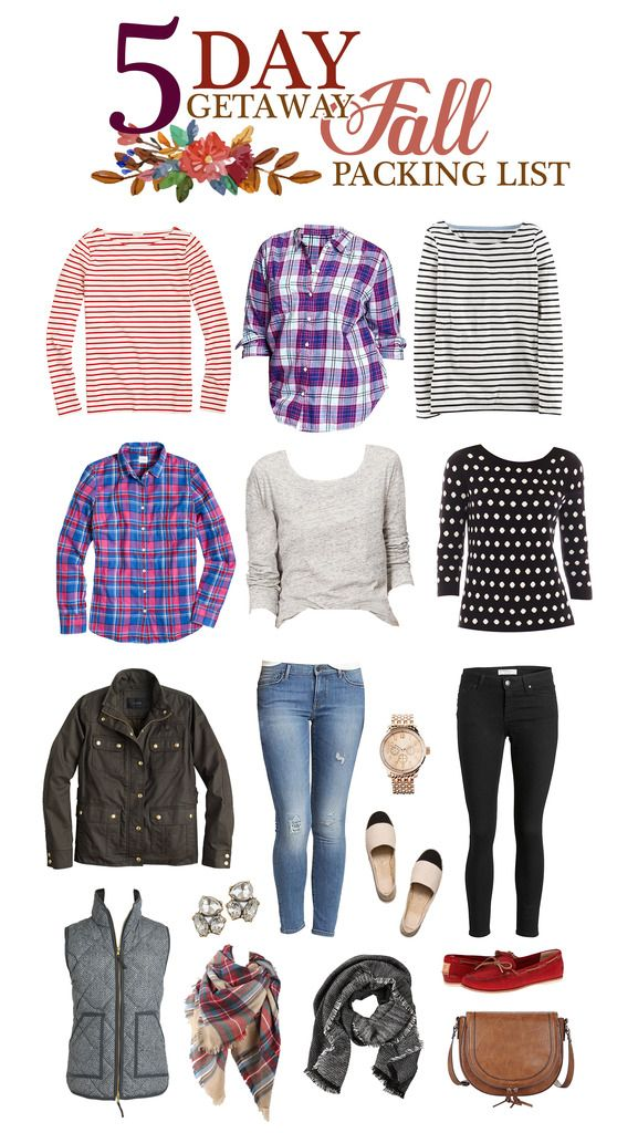 Five Day Getaway Fall Packing List