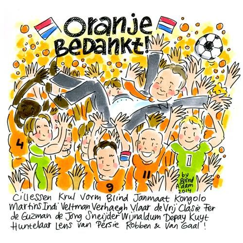 Thank you to the WK Dutch Football Team