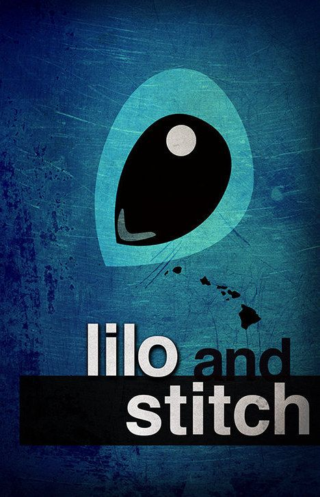 Lilo and Stitch | 28 Minimalist Posters For Your Disney-Themed Nursery