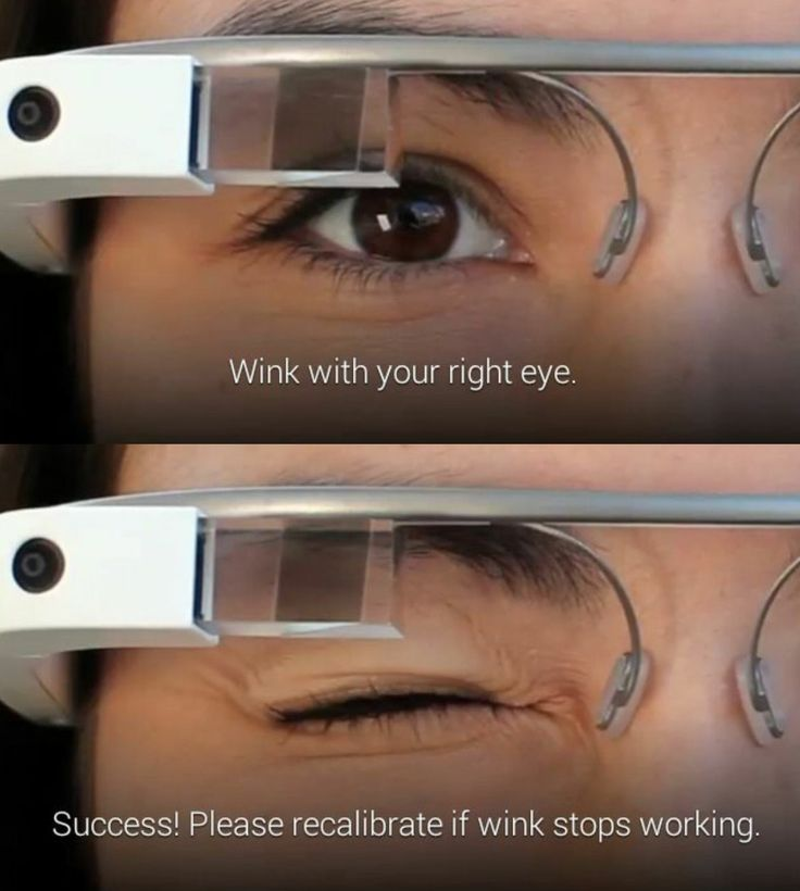 The new Google Glass update lets users take pictures by winking.