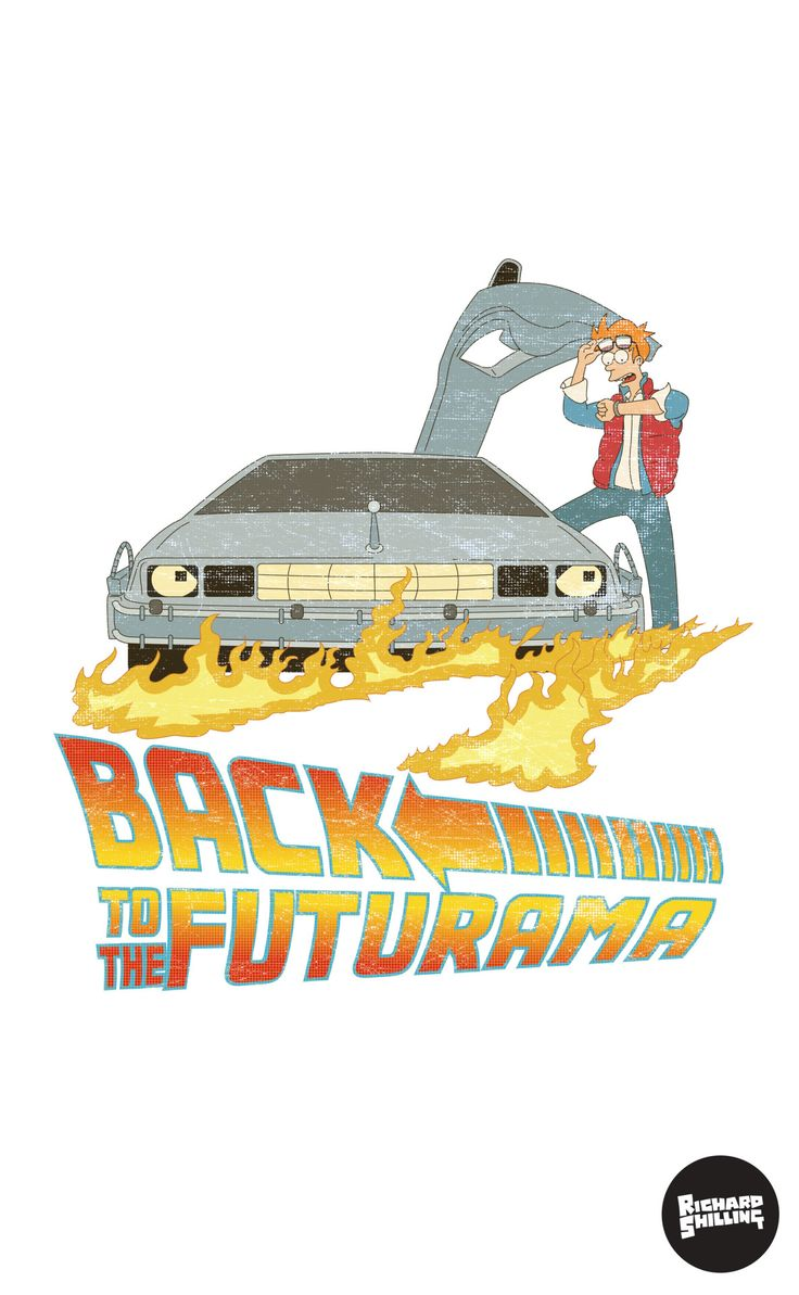 A T-shirt design I was commissioned to produce some time ago - Back to the Futurama! The same says it all really :P.