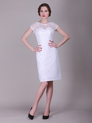 Pin to Win a Wedding Gown or 5 Bridesmaid Dresses! Simply pin your favorite dresses on www.forherandforhim.com to join the contest! | Lace Sweetheart Vintage Dress $189.99