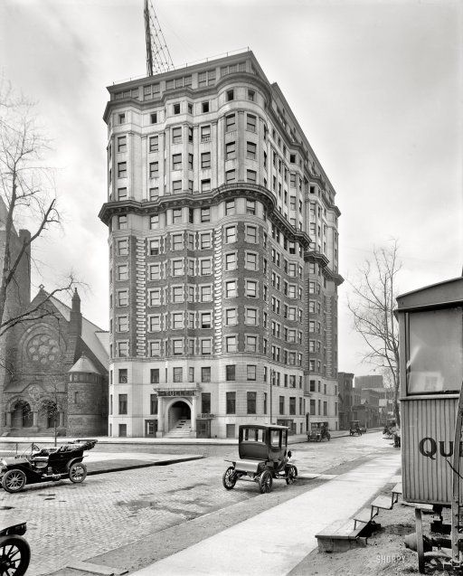"Detroit, Michigan, circa 1914. ""Hotel Tuller, Grand Circus Park."""