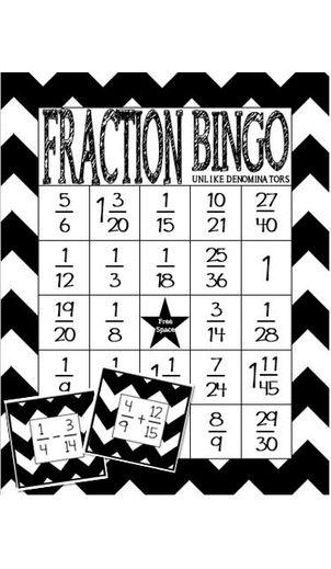 1000+ ideas about Fraction Bingo on Pinterest | Math fractions ...