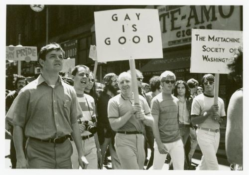 Frank Kameny and the Mattachine Society march in 1970