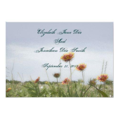 Shop Wedding Indian Blanket Flower Invitation Card Created By MugsAndMagnets