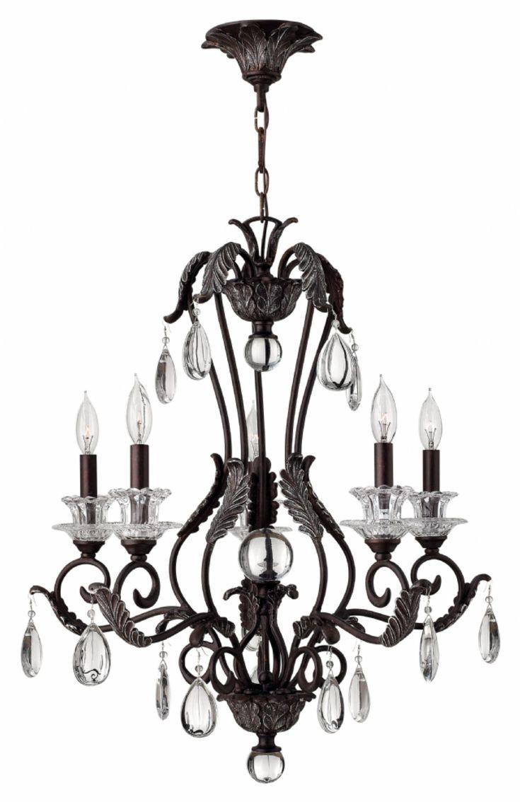 Kichler lighting 42548clp triad 3 light linear pendant classic pewter - Five Light Golden Bronze Candle Chandelier
