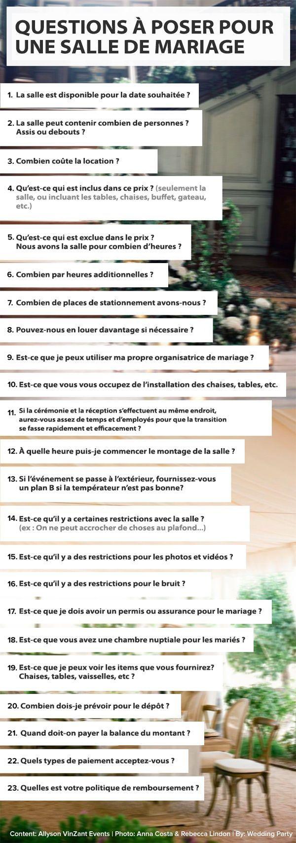 Robe de mariage : Des questions à poser pour la réservation d'une salle de mariage