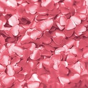 Rainbow Dust Edible Confetti - Hearts - Pink - 2 g Golda's Kitchen