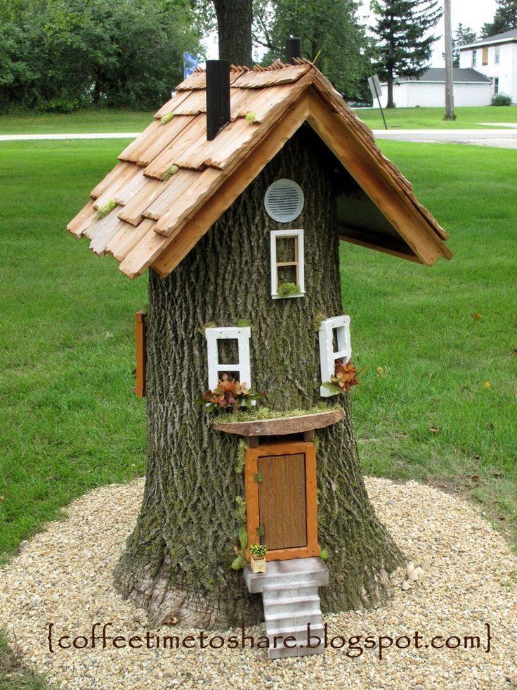Kaffee Zeit zum Teilen …: Gnome Haus … zu vermieten :) – Garten