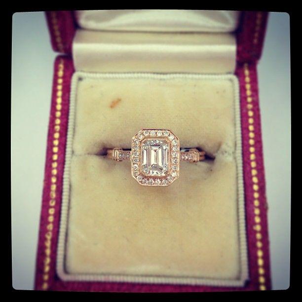 Emerald cut in 18kt rose gold - my dream
